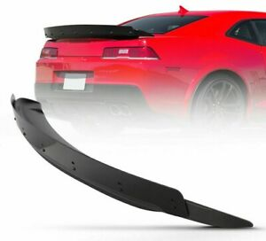 For 2014 2015 Chevy Camaro Abs Spoiler Rear Trunk Metal Black Matte Color