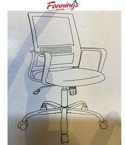 Used Office Chair Mid Back Mesh Office Computer Swivel Desk Task Chair A93918