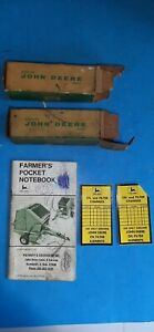 Vintage John Deere 2 Parts Boxes 4 Legged 2 Oil Filter Records 76 Jd Notebook