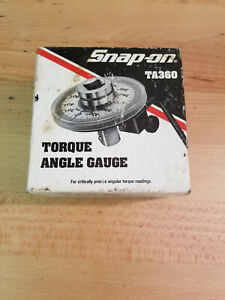Snap on Tools Ta360 1 2 Drive Precision Torque Angle Gauge 360 Adjustable Dial