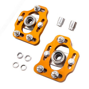 Front Adjustable 3 Camber Caster Plates Kit Gold For Ford Mustang 1979 1989