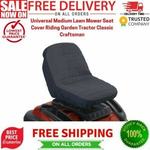 Universal Medium Lawn Mower Seat Cover Riding Garden Tractor Classic Craftsman