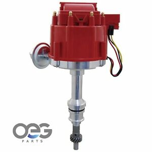 New Hei Distributor For Ford 351w 5 8 V8 Sbf Direct Fit Hei Replacement Red