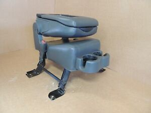 99 07 Chevy gmc Pickup Suv Center Console Jump Seat Dark Gray Leather