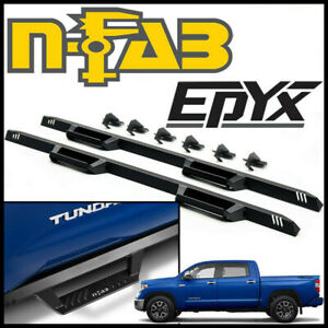 N fab Nerf Bars Epyx Cab length Side Step Bars Fit 2007 21 Toyota Tundra Crewmax