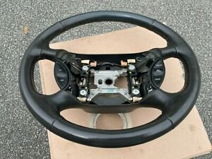 1994 Thru 2004 Ford Mustang Steering Wheel Dark Graphite gray Leather Wrapped