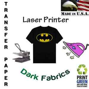 Heat Transfer Paper For Dark Fabric Laser Printer 8 5 x11 10 Sheets Red Line