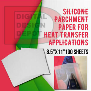 Silicone Parchment Paper For Heat Transfer Applications 8 5 x11 100 Sheets