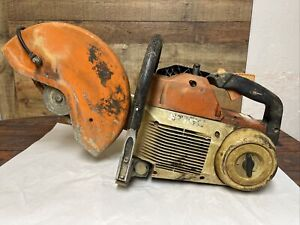 Stihl Ts460 Gas Concrete Hand Held Cutoff Saw For Parts Or Repairs Not Seized