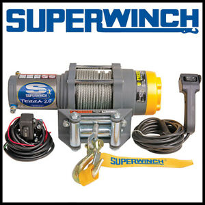Superwinch Terra 25 12v Atv Utv Steel Rope Winch