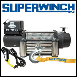 Superwinch Tiger Shark 11500 12v Steel Rope Winch