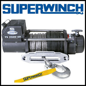 Superwinch Tiger Shark 11500sr 12v Synthetic Rope Winch
