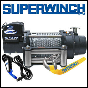 Superwinch Tiger Shark 15500 12v Steel Rope Winch