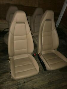 10 13 Porsche Panamera Complete Front And Rear Leather Seats Oem Luxor Biege