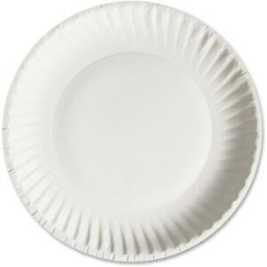 Paper Plates Uncoated 6 Plate 1000 ct White
