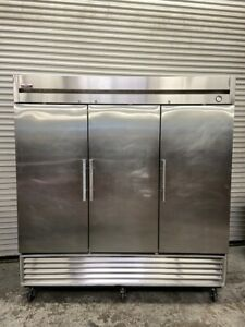 3 Door Refrigerator Nsf Cooler Reach In Upright 120v True T 72 Commercial 5525