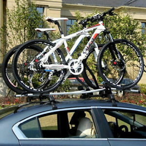 2x Universal Car Top Luggage Roof Rack Cross Bar Adjustable Window Frame Lock