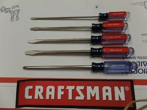 Screwdriver Set Extra Large 5 Piece 12 75 Inches Long Craftsman