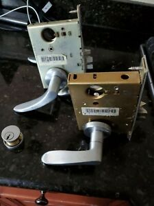 2 Schlage Storeroom Commercial Mortise Lock Brushed Stainless L9080 L9050 60 70