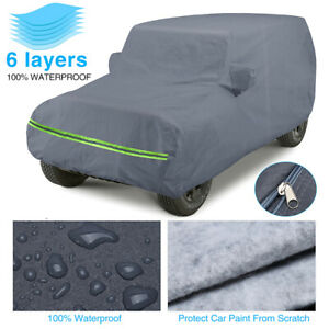 6 layer Car Cover For Jeep Wrangler Cj yj Tj Jk 2 Door All Weather Protection