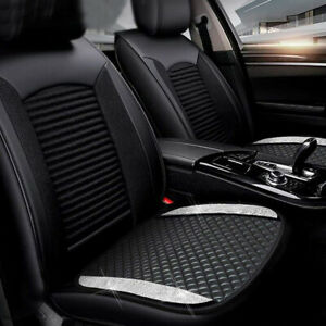 Universal Luxury Pu Leather Car Seat Cover For Front Seat Seat Mat Bling Parts