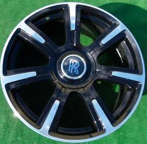 Factory Rolls Royce Ghost Wraith Wheel Bespoke Black 21 Inch 6859421 Genuine Oem