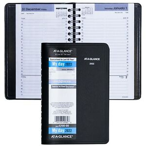 2022 At a glance Dayminder G100 00 Daily Appointment Book 4 7 8 X 8