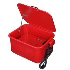 3 5 Gal Automotive Large Parts Washer Garage Electric Solvent Pump Cleaner Tool