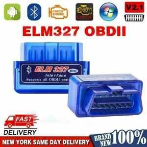 Bluetooth Elm327 obd2 Obdii Car Diagnostic Code Reader Scanner Tool Windows