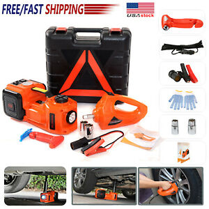 5t Car Truck Suv Jack Lift Electric Hydraulic Floor Jack With Impact Wrench Set