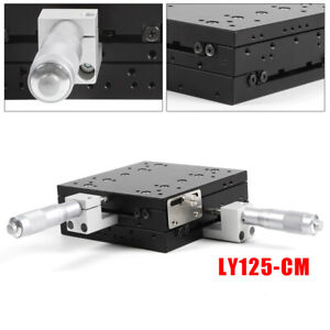 Ly125 cm Xy axis Linear Stage Manual Slide Table Trimming Platform 125 125mm New