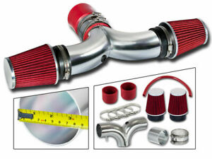 Dual Twin Air Intake Kit With Red Dry Filter For 2003 2008 Ram1500 5 7l Hemi