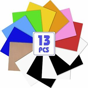 24 Sheets 16 Colors 12 x 10 Heat Transfer Vinyl Htv Bundle Iron On T shirts