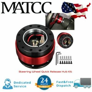 Universal Car Steering Wheel Quick Release Hub Adapter Aluminum Alloy Red New