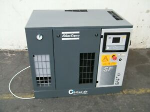 5 Hp Atlas Copco Sf4ff Oil Free Scroll Air Compressor W Dryer Powerex Lab