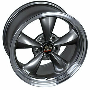 Anthracite 17 Wheel W machined Lip Fits Mustang Bullitt Style Rim 17x8