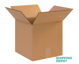 25 12x12x12 Corrugated Kraft Cardboard Cartons Shipping Packing Cube Boxes