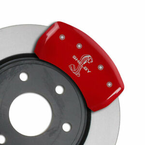 Mgp Caliper Covers Rear Tiffany Snake Engraving For 2015 Ford Mustang red