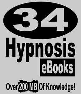 34 Books Hypnosis Ebooks Ultimate Library On Hypnotism w Reseller Website