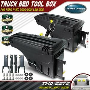 2x Lockable Storage Box Truck Bed Tool Box Left Right For Ford F 150 2020 2021
