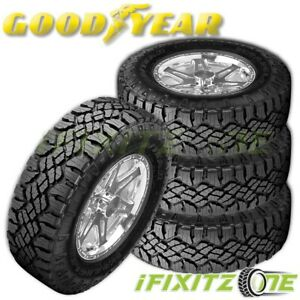 4 Goodyear Wrangler Duratrac All Season Lt265 75r16 123 all terrain 3pmsf Tires