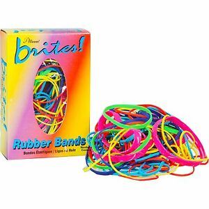 Brite Colorful Rubber Bands Assorted Sizes 1 1 2 Oz Box