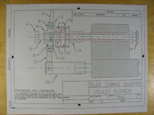 Lever Collet Closer Drawings For Sherline Lathe