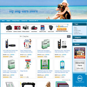 Dog Care Store Online Affiliate Business Website For Sale Great Home Based Job
