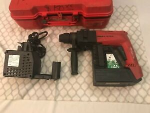 Hilti Te10a Cordless Rotary Hammer Drill w Case Charger