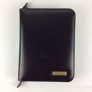 Daytimer Zip Planner Organizer 1 Inch Leather 7 Rings Black 8x10 5 With Inserts