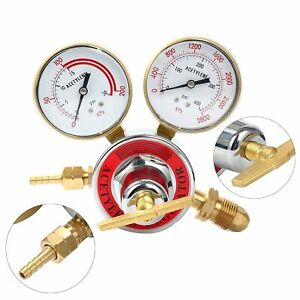 Welding Gas Gauge Welder Acetylene Regulator Torch Cutting Kits Cga 510 Gauges