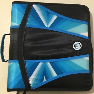 Case It 4 Zipper Binder O rings 5 Color Tabbed Mighty Zip Tab Handle Trapper