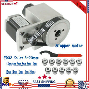 Cnc Router Axis 4th Axis Hollow Shaft Er32 Collet Set 3 20mm Engraving Machine