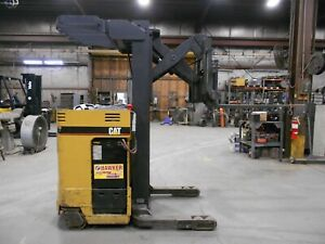 2000 Caterpillar Model Nrr30 24v Stand up Rider Electric Reach Type Forklift
